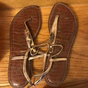 Sam Edelman Gigi Thong Sandals, size 10, bronze